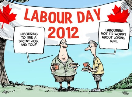 Labour Day 2912 Cartoon by Greg Perry.