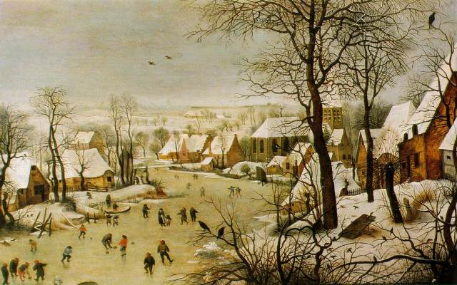 Pieter BreugelWinter scene with bird trap